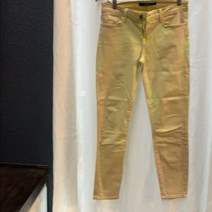 J Brand accidentally tie dyed lime jeans 27